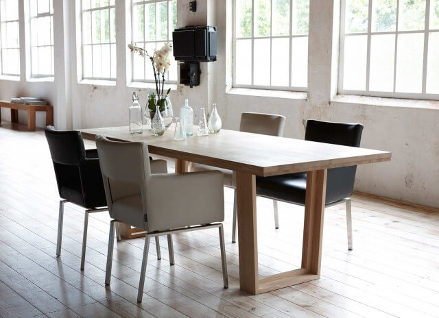 Corridor dining table